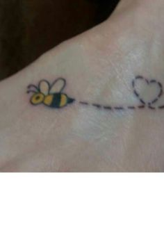 Cute bumble bee tattoo