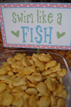 Cute to do something plunge-related with goldfish for the moppets.