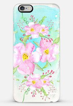 Pastel watercolor flowers-transparent