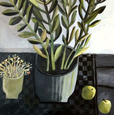 Este MacLeod Painting 'Black checked tablecloth' on exhibit at Byard Gallery. Flower Images, Flower Art, Matisse, Checkered Tablecloth, Plant Art, Naive Art, Art For Art Sake, Illustrations And Posters, Painting Inspiration