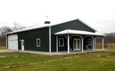 Metal & Steel Buildings: Choice Metal Buildings and Pole Barn Homes Interior. Metal Garage Buildings, Metal Garages, Pole Buildings, Shop Buildings, Steel Building Homes, Metal Building Kits, Building A House, Storage Building Homes, Grace Building