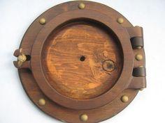 Vintage Frame Wood Porthole Repro Nautical by accentonvintage, $18.00