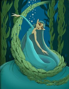 This is Aqua Fairy, or Aquatic Fairy. People often mistake her for a Mermaid because she is underwater, but take my word for it; underneath that flowing skirt are a pair of fairylicious legs! Think of her as a sort of Water Sprite!