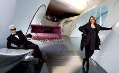 Pritzker Prize–winning architect Zaha Hadid and Karl Lagerfeld team up for an artistic tribute to the anniversary of the Chanel handbag. Zaha Hadid Architecture, Concept Architecture, Sustainable Architecture, Amazing Architecture, Chinese Architecture, Architecture Office, Futuristic Architecture, Zaha Hadid Design, Arquitetos Zaha Hadid