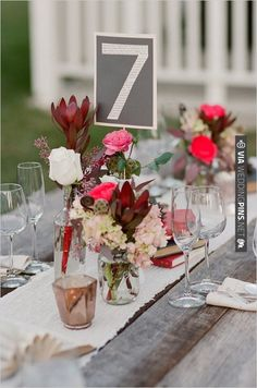 table number decor | CHECK OUT MORE IDEAS AT WEDDINGPINS.NET | #wedding