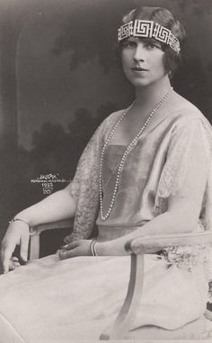 """Regina Mama"" Elena of Romania, neé Princess of Greece, 1922"