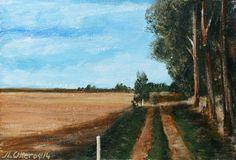 Camino de Santiago. Tierras de Castilla Country Roads, Painting, Art, Scenery, Camino De Santiago, Exhibitions, Earth, Art Background, Painting Art