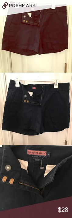 NWOT cute vineyard vines navy blue shorts size 6 New without tags navy blue shorts from vineyard vines! Pink whale on back size 6 mid length shorts super cute with jacks! Vineyard Vines Shorts