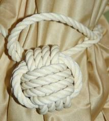 beige rope curtain tie back - Google Search