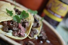 Carne Asada Tacos made with my Chef LaLa Homemade Carne Asada Marinade