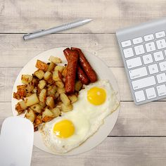 Breakfast Mouse Pad, Food Mouse Pad, Egg Mouse Pad (0053)