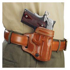 Galco Avenger Belt Holster for Kimber Right, Tan 1911 Leather Holster, 1911 Holster, Tactical Holster, Pistol Holster, Tactical Gear, Holsters, Leather Art, Saddle Leather, Custom Leather