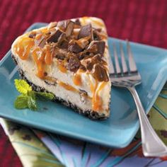 Toffee Caramel Ice Cream Pie Recipe -This delicious pie is easy to make and so pretty. It comes together in under 30 minutes and since you can make it in advance, it's ideal for entertaining. --Diane Lombardo, New Castle, Pennsylvania