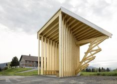 Glatzegg bus stop par Wang Shu et Lu Wenyu http://www.laboiteverte.fr/arrets-bus-grands-architectes/