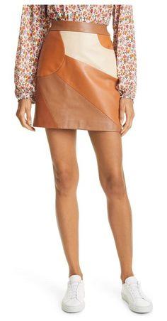 Nude Skirt, Nicole Miller, One Color, Leather Skirt, Shoe Trend, Mini Skirts, Nordstrom, Beige, Denim