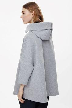 COS image 3 of Cape with zip hood in Grey