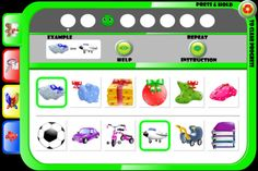 Preschool EduPlay Lite ($0) FREE -   The game features for now four types of challenges:   1. matching objects;   2. find the object;   3. spot the difference   4. puzzle (bonus mode).