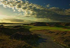 Golf Hole #1, Par 3 photographed at Chambers Bay WA.