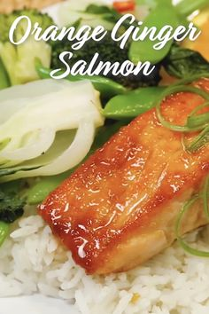 This beautiful Salmon recipe is ready in just 15 minutes and is loaded with flavor thanks to the addition of ginger, orange and honey! Enjoy this healthy recipe for lunch or dinner! Healthy Salmon Recipes, Healthy Recipe Videos, Fish Recipes, Lunch Recipes, Seafood Recipes, Vegetarian Recipes, Dinner Recipes, Cooking Recipes, Orange Salmon Recipes