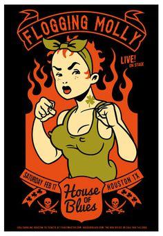 Scrojo, Flogging Molly Poster, 2013