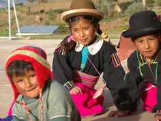 Lovely Inca Children smiling