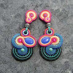 Soutache Ohrringe im Mexiko Style // Djenka - biżuteria autorska sutasz i... przyjaciele: Ritmo mexicano