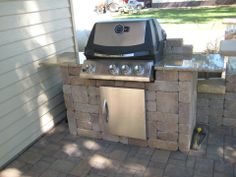 Built-in Grill  #grill #landscaping #bbqtime #backyard #patio