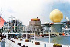 Takara Beautilion / Pavilion for Expo Osaka 1970 / Kisho Kurokawa Japanese Architecture, Modern Architecture, Architecture Graphics, Moleskine, Metabolist, Late Modernism, Nakagin Capsule Tower, Marine City, Kenzo Tange