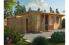 Tuinhuizengroep houten bungalows