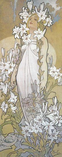 Alphonse Mucha. One of my favorite artists