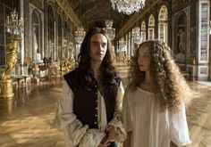 It's not just bonking: there's violence, too: Louis XIV (George Blagden) and Nymphe (Alexia Giordano) in Versailles. Versailles Bbc, Louis Xiv Versailles, Versailles Tv Series, George Blagden, Criminal Minds, Alexander Vlahos, The Royal Show, Canal Plus, Luis Xiv