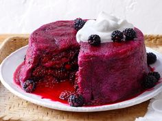 Blackberry Summer Pudding is a classic British dessert that showcases the bright flavors of fresh summer fruit.