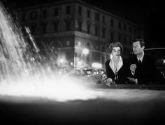 Anouk Aimée and Marcello Mastroianni in La Dolce Vita directed by Federico Fellini, 1960