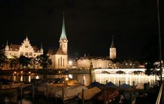 추리히 야경(Night scenery of the zurich.)  photo by Bang, Chulrin