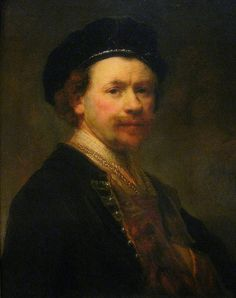 Rembrandt van Rijn (Dutch): Self Portrait, oil on canvas. Rembrandt Self Portrait, Rembrandt Paintings, Caravaggio, Paul Klee Art, Renaissance Portraits, Baroque Art, Classic Paintings, Dutch Painters, Art Institute Of Chicago