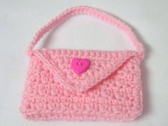 Crocheted Girls' Purse Pink Textured Flower by crochetedbycharlene, $11.00