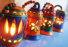 Diwali Lamps for home decoration. Diwali Lamps for home decoration. Diwali Diya, Diwali Craft, Diwali Gifts, Happy Diwali, Diwali Lantern, Diwali Lamps, Indian Crafts, Indian Home Decor, Diwali Decorations