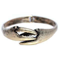 Crab Claw (Matted Gold) / Bangle Bracelet (Back-Order Until Gold Bangle Bracelet, Gold Bangles, Nautical Jewelry, Cute Bracelets, Jewelry Trends, Claws, Jewelery, Rings For Men, Silver Rings