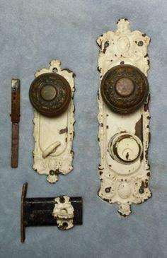 Antique Back Plates | Antique Vintage Brass Back Plates Cabinet Door Knob  Floral Flower Ros ... | Door Hardware | Pinterest | Vintage, Antiques And  Floral ...