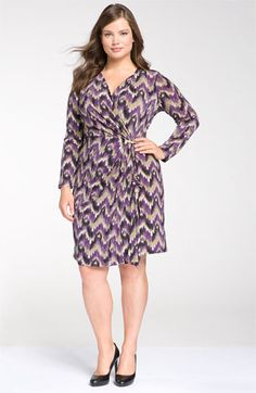 I have to hand it to Nordstrom. Not only are they advertising clothing for plus size women but they are actually showing plus size models in ALL of the plus size clothes. Usually it's a petite model and you have to guess what it would look like in your size.