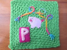 Pig and pigtail - Wendy L. To learn more about our organization go to www.knit-a-square.com  To meet our members and see more of our knitting and crochet go to http://forum.knit-a-square.com/