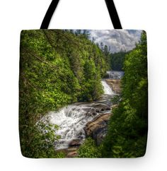Triple Falls North Carolina Tote Bag by TheLakesideBoutique