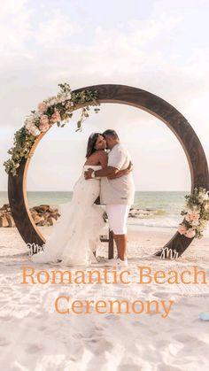 Romantic Beach, Beach Ceremony, Ceremony Decorations, Professional Photography, Simple Weddings, Wedding Flowers, Wedding Photos, Florida, Wedding Photography