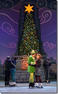 "Will Blum and Lindsay Nicole Chambers star as Buddy and Jovie in Broadway in Chicago's ""Elf the Musical,"" directed by Sam Scalamoni. (photo credit: Amy Boyle Photography)"