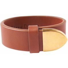 Toast Leather Cuff (155 CAD) ❤ liked on Polyvore featuring jewelry, bracelets, cognac, hinged cuff bracelet, leather bangle bracelet, hinged bracelet, leather jewelry and polish jewelry