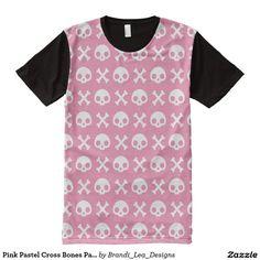 Pink Pastel Cross Bones Pattern