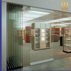 Schalldichte Rahmenlose Raumhohen Raumteiler Außen Glas Schiebetüren