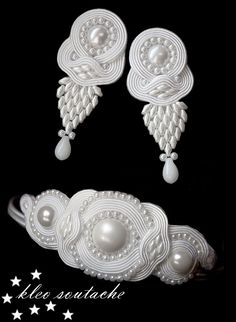 Hand embroided soutache statement necklace,qafore me rruza,pune dore me rruza,aksesore me rruza, Soutache Bracelet, Soutache Jewelry, Beaded Earrings, Earrings Handmade, Beaded Jewelry, Handmade Jewelry, Pearl Necklace, Jewelry Sets, Women Jewelry
