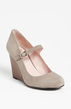 Cute Mary Jane wedge. I have these in black and get compliments all the time. Looks great dressed up or dressed down with jeans.