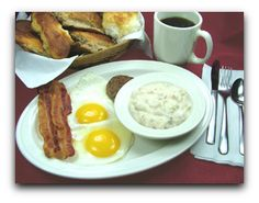 The Roanoker Restaurant-go for breakfast and get the country ham with redeye gravy!